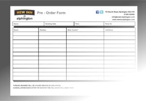 Pre Order Form